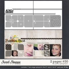 2 Pager: 30 by Penny Springmann: digital scrapbooking template