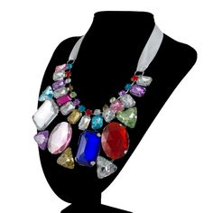 Multi Color Crystal Jewelry Bridal Stone Jewelry Sets
