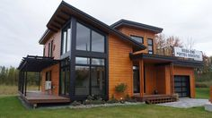 Timber Block Builds Newest in Contemporary Home Plans Contemporary House Plans, Modern House Design, Modern Architecture House, Pavilion Architecture, Sustainable Architecture, Residential Architecture, Modern Exterior, House Layouts, House In The Woods
