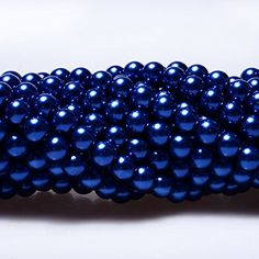 RUBYCA 200Pcs Czech Tiny Satin Luster Glass Pearl Round Beads Beading Jewelry Making 10mm Dark Blue -- You can find out more details at the link of the image.