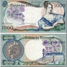 History Of Portugal, Nostalgia, Money Notes, Portuguese Culture, Old Money, Rare Coins, Childhood Memories, Azores, Stamps