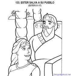 ME ABURRE LA RELIGIÓN: ESTER. DIBUJOS PARA COLOREAR Esther Biblia, Queen Esther Bible, Bible Crafts, Religious Art, Sunday School, Kids, Rey, School, Dibujo
