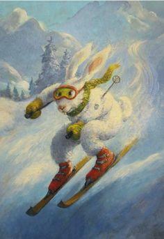 Rudi Hurzlmeier - Skiing Rabbit