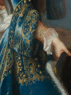 Portrait de Louis Alexandre de Bourbon François de Troy, detail
