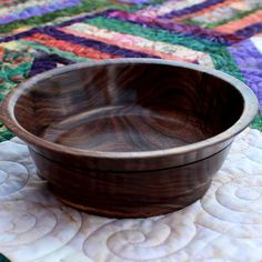 Black Walnut Wood Bowl 888 by thequilthaus on Etsy, $39.00
