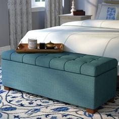 Andover Mills Ravenwood Upholstered Storage Bench & Reviews | Wayfair