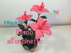 Como tejer rosas a crochet - Make easy Knitting beautiful bouquets of roses Crochet Flower Tutorial, Crochet Flower Patterns, Crochet Designs, Crochet Flowers, Irish Crochet, Easy Crochet, Cactus En Crochet, Hibiscus, Tutorial Rosa