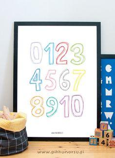 Väritettävät numerot