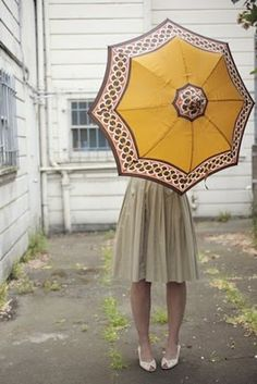 Pretty yellow umbrella