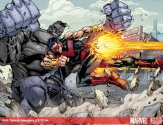 Hulk vs Wonder Man