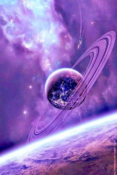 Space and Astronomy. The heavens are declaring the glory of God. For anyone who loves the astronomy Purple Love, All Things Purple, Purple Rain, Shades Of Purple, Purple Stuff, 50 Shades, Cosmos, Galaxy Art, Galaxy Space