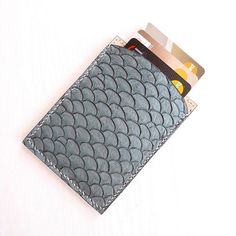 Tilapia fish Skin Cardholder ... One of the most sustainable leather with a unique texture and beautiful color #annewesleysf