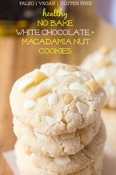 No Bake White Chocolate Macadamia Nut Cookies