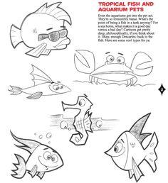 FISH   cartoon cool how to draw new retro style characters watson guptill