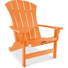 Orange Patio Chairs throw your guests a curve, with the asymmetrical silhouette of our