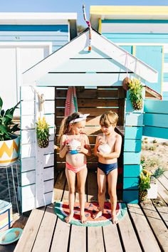 Summer beach box cubby house... via Cubby and Castle