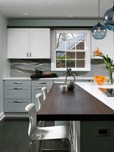 HGTV has inspirational pictures for cabinet color ideas that can help you create your own dream kitchen.