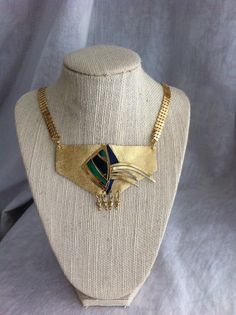 Gold Leather Necklace  by SimplyYouAccessories on Etsy