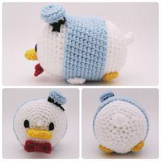 Crochet Donald Duck Tsum Tsum  #amigurumi #crafts #crochet #Disney #DonaldDuck #duck #handmade #plush #SheepShaved #TsumTsum #yarn