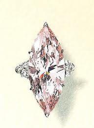 Graff Fancy Marquis Cut Pink Diamond