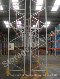 on load spreader plates with post protection bolted through the plates installed by Storage Design Limited Storage Design, Pallet Racking, Projects, Plates, Home Decor, Log Projects, Licence Plates, Blue Prints, Dishes