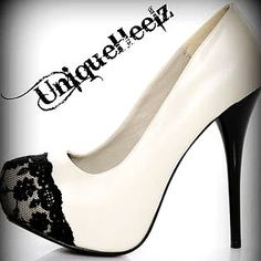 Black & Ivory Lace Platforms Shoes - LoveItSoMuch.com