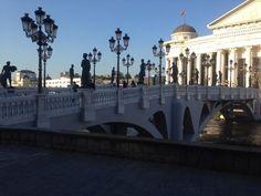 So pretty bridge Tourism Skopje macedonia
