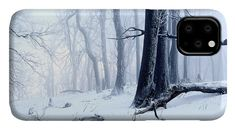 Winter forest IPhone Case for Sale by Ren Kuljovska.  Protect your iPhone 11 with an impact-resistant, slim-profile, hard-shell case.  The image is printed directly onto the case and wrapped around the edges for a beautiful presentation.  Simply snap the case onto your iPhone 11 for instant protection and direct access to all of the phone's features! #snowyforest #artprint #winterbeauty #wintermagic #phonecase Iphone 11, Iphone Cases, Snowy Forest, Winter Magic, Pin Pin, Buy Art Online, Brand Identity Design, Winter Photography, Winter Landscape