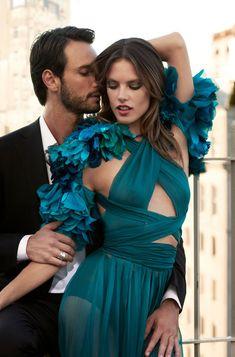 Alessandra Ambrosio & Rodrigo Santoro by Eric Guillemain   Vogue Brasil December 2011