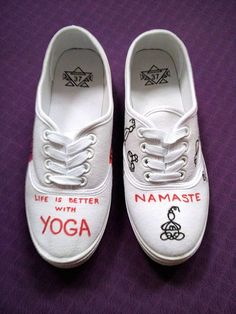 Yogis shoes. Life is better with yoga.