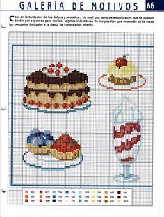 Free Cake and Ice Cream Cross Stitch Chart