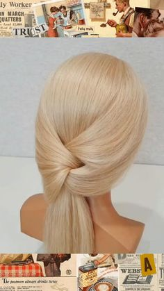 Hairdo For Long Hair, Easy Hairstyles For Long Hair, Diy Hairstyles, Medium Hair Styles, Curly Hair Styles, Hair Upstyles, Great Hair, Hair Videos, Hair Hacks
