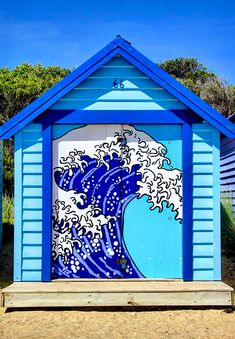 Western Australia occupies the whole one-third of the Australian continent. It is largest state in Australia and the second largest sub-national entity in the world. Mural Painting, Mural Art, Beach Bungalows, Beach Huts, Graffiti, Rhapsody In Blue, Unique Doors, Himmelblau, Artistic Photography