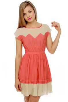 Great Apex-tations Coral Dress