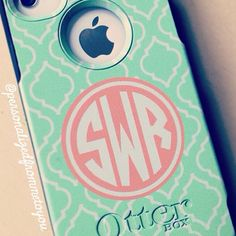 Offer your cherished iPhone 5 the protection it deserves with our NEW Monogrammed Otterbox Commuter Series for iPhone This sleek and tough case offers the protection only Otterbox can deliver with the preppy, chic style only Lipstick Shades can offer! Cute Phone Cases, Iphone Cases, Ipod, Southern Belle, Christmas Wishes, Girls Best Friend, Design Your Own, Just In Case, Preppy
