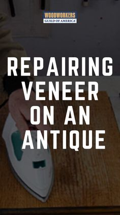 David Munkittrick teaches you the process of restoring veneer to an antique table top. Learn to fix any of your antique woodworking projects. Wood Finishing, Cement, Pallets, Wood Working, Woodworking Projects, Restoration, Plastic, Tools, Antiques