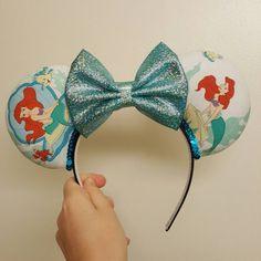 Ariel vintage bedsheet inspired mickey ears by DarlinBowsnThings