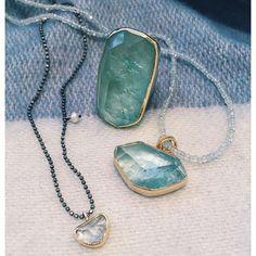 Photo from igormanjewelers Stylish Jewelry, Unique Jewelry, Greek Jewelry, Wire Jewelry, Jewellery, Aqua Marine, Natural Forms, Gemstone Colors, Making Ideas