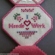 CA-Wells-I-Love-Needlework-Needlecase-Finished-Completed-Cross-Stitch
