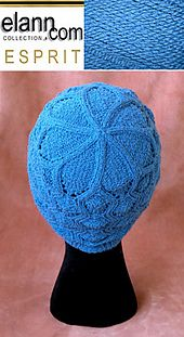 Ravelry: Wavy Cable Lace Hat pattern by Mathilde Eline Norholm