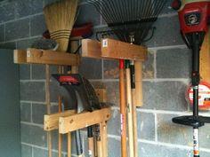 Garage Workshop, Organize Garage Tools, Gardening Tools, Garden Tools Organizer, Garage Tool Organization Diy, Hanging Tools In Garage, Garage Organize, ...