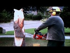 Von der Wurzel zum Adler made by Larscarving- Wood chainsaw carving eagle sculpture - YouTube