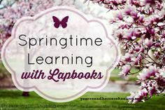 Spring Learning with Lapbooks - http://www.yearroundhomeschooling.com/spring-learning-lapbooks/