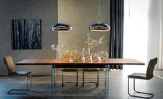 An innovative and contemporary dining table, Ikon Drive table by Cattelan Italia sets new standards for the urban living space. Designed by Philip Jackson. Expandable Dining Table, Italia Design, Extension Dining Table, Modern Dining Table, Dining Tables, Dining Area, Dining Room Furniture, Contemporary Furniture, Outdoor Living