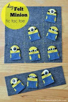 Fun Kid Crafts: DIY Felt Minion Tic Tac Toe Board