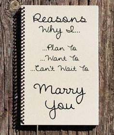 Reasons I Want To Marry You - Proposal Gift - Engagement - Fiance Gift - I Can't Wait To Marry You - Will You Marry Me