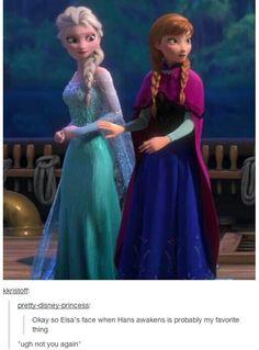 Frozen<< look how Anna reaches to block Hans from Elsa Disney Magic, Walt Disney, Disney Love, Disney Frozen, Disney Stuff, Frozen Art, Disney And Dreamworks, Disney Pixar, Disney Characters