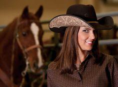 Hand Tooled  Hat   Gotta love it!!!  Charlie 1 Horse - Deuces Wild