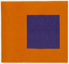 Ellsworth Kelly. Purple and Orange from the series Line Form Color. 1951