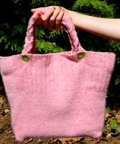 Hand-made 'Strawberry Crunch' Felted Pink by TheShrunkenSweater